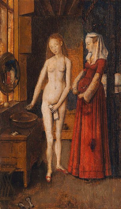 Woman Bathing by Jan Van Eyck Reproduction Painting by Blue Surf Art