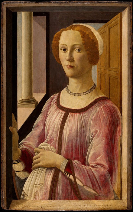 Portrait of a Lady Known as Smeralda Brandini by Sandro Botticelli I Blue Surf Art