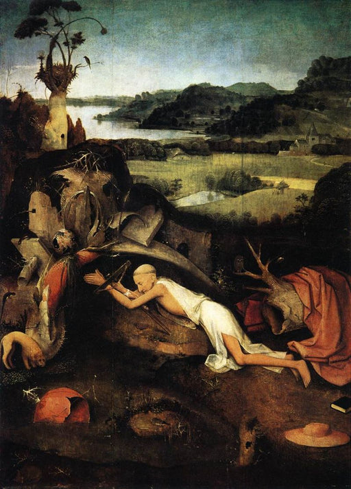 St. Jerome at Prayer (Bosch) by Hieronymus Bosch I Blue Surf Art