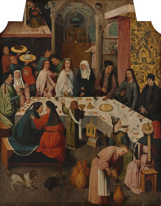 The Marriage Feast at Cana (Bosch) by Hieronymus Bosch I Blue Surf Art