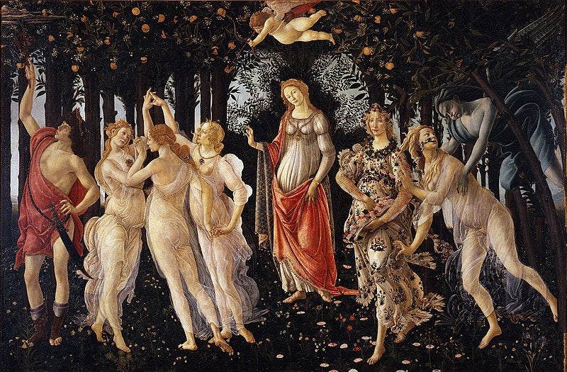 La Primavera by Sandro Botticelli I Blue Surf Art