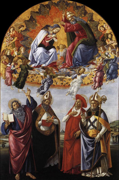 San Marco Altarpiece by Sandro Botticelli I Blue Surf Art