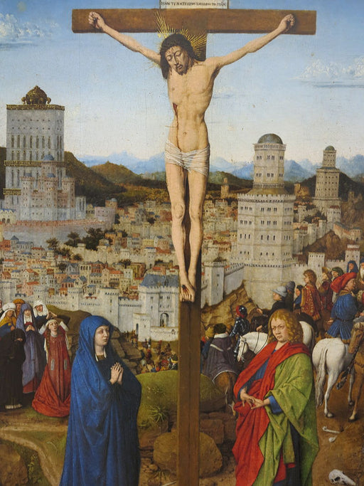 Crucifixion by Jan Van Eyck Reproduction Painting by Blue Surf Art