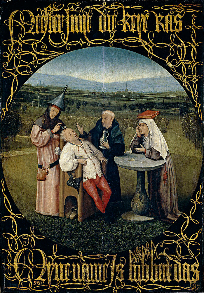 Cutting the Stone by Hieronymus Bosch I Blue Surf Art