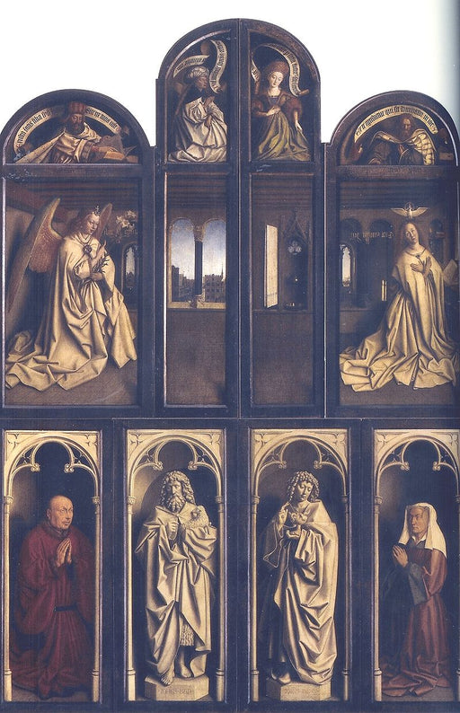 Ghent Altarpiece by Jan Van Eyck Reproduction Painting by Blue Surf Art