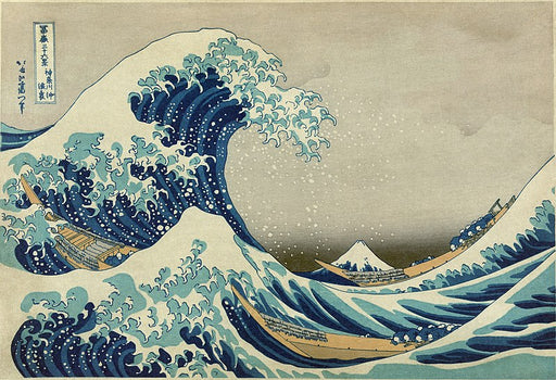 The Great Wave off Kanagawa by Katsushika Hokusai Reproduction Painting