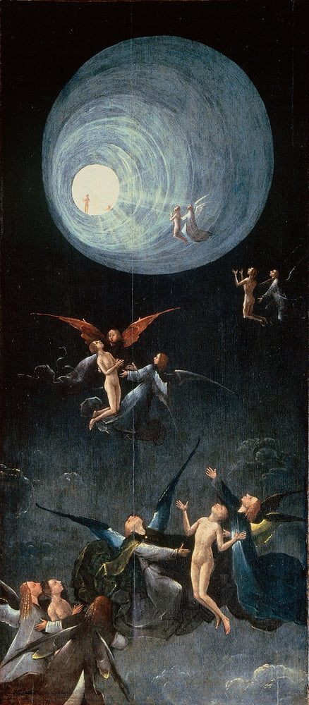 Ascent of the Blessed by Hieronymus Bosch I Blue Surf Art