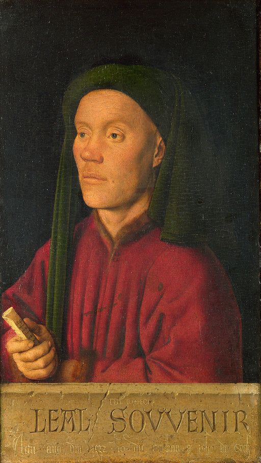 Léal Souvenir by Jan Van Eyck Reproduction Painting by Blue Surf Art