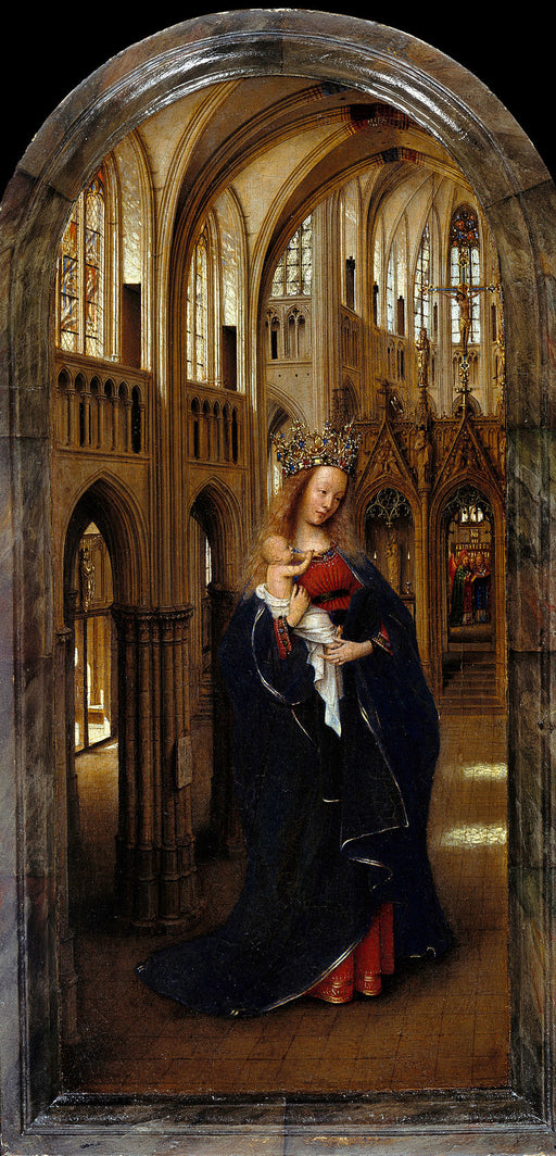 Madonna in the Church by Blue Surf Art by Jan Van Eyck Reproduction Painting by Blue Surf Art