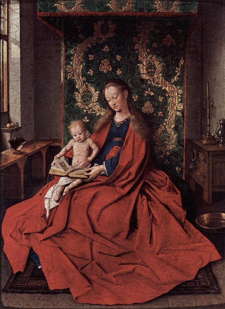 The Vrigin Mary by Jan Van Eyck Reproduction Painting by Blue Surf Art