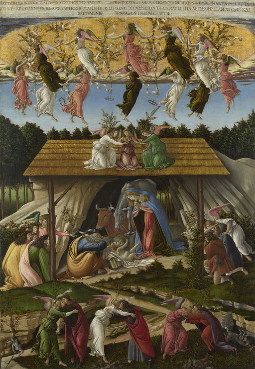 The Mystical Nativity by Sandro Botticelli I Blue Surf Art