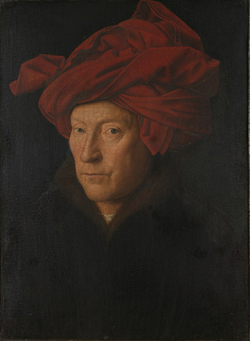 Portrait of a Man (Self Portrait?)) by Jan Van Eyck Reproduction Painting by Blue Surf Art