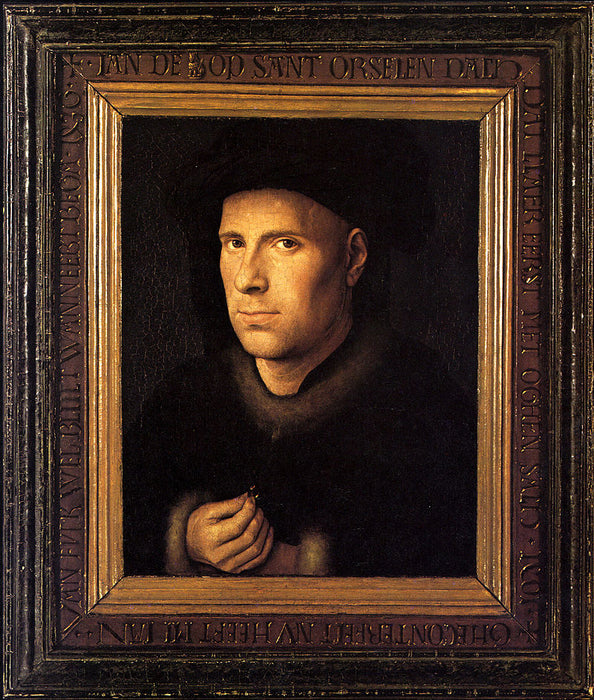 Portrait of Jan de Leeuw by Jan Van Eyck Reproduction Painting by Blue Surf Art