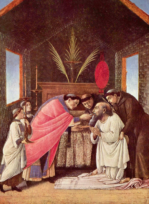 The Last Communion of Saint Jerome by Sandro Botticelli I Blue Surf Art