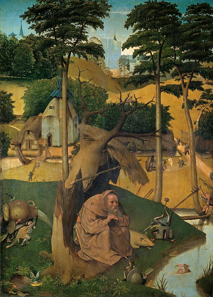 The Temptation of St Anthony by Hieronymus Bosch I Blue Surf Art