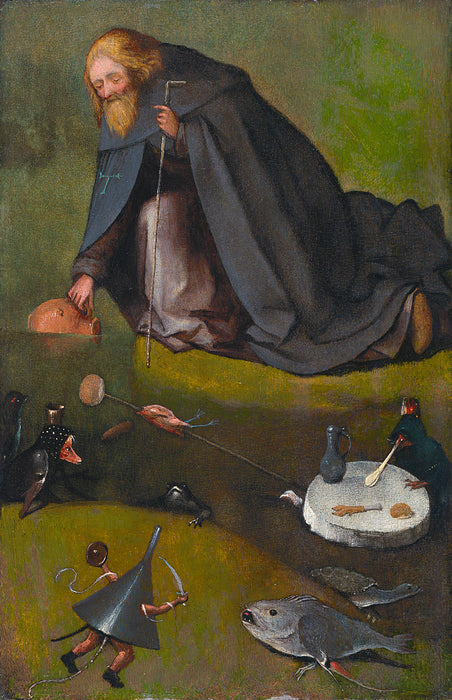 The Temptation of St Anthony (Kansas City) by Hieronymus Bosch I Blue Surf Art