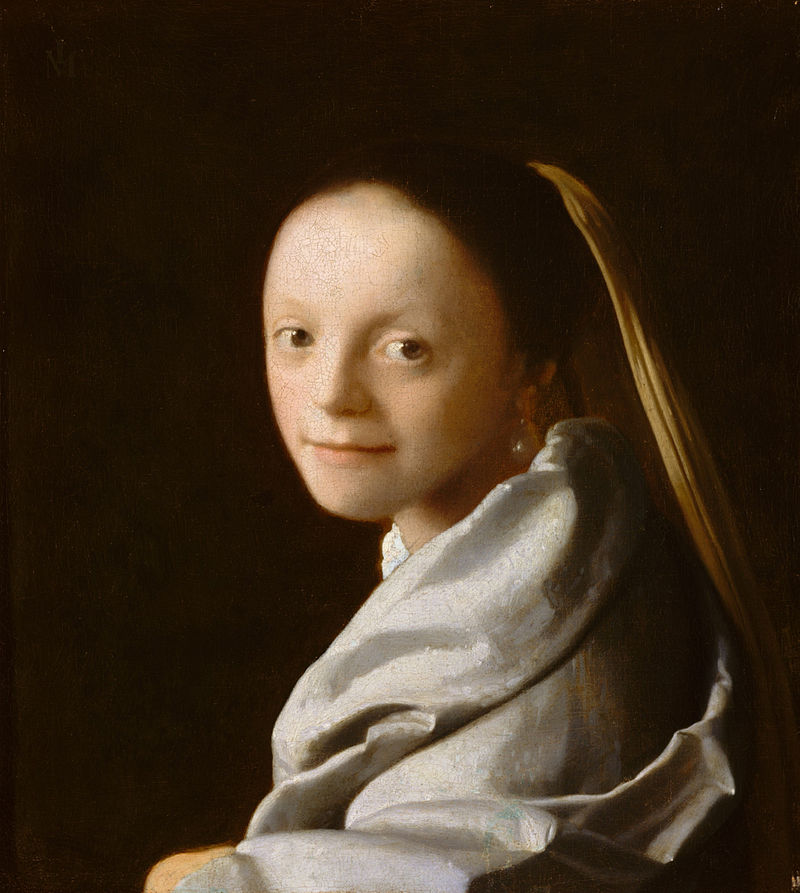 Study of a Young Woman by Johannes Vermeer Reproduction Painting by Blue Surf Art