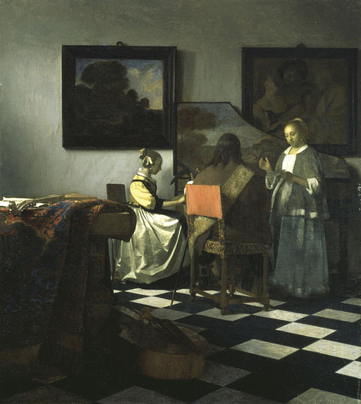 Christ in the House of Martha and Mary by an Open Window  by Johannes Vermeer Reproduction Painting by Blue Surf Art