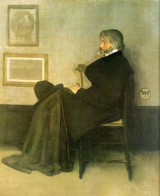 Arrangement in Grey and Black, No. 2: Portrait of Thomas Carlyle by James Abbott McNeill Whistler Reproduction Painting by Blue Surf Art