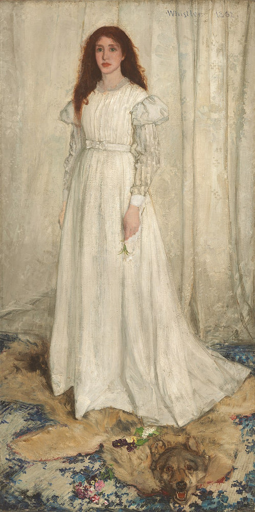 Symphony in White, No. 1: The White Girl by James Abbott McNeill Whistler Reproduction Painting by Blue Surf Art