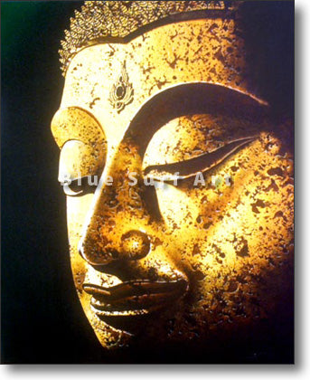 Golden Chiangsaen Buddha Oil Painting on Canvas
