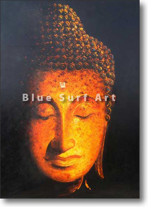 Golden Sukhothai Buddha Oil Painting on Canvas by Blue Surf Art