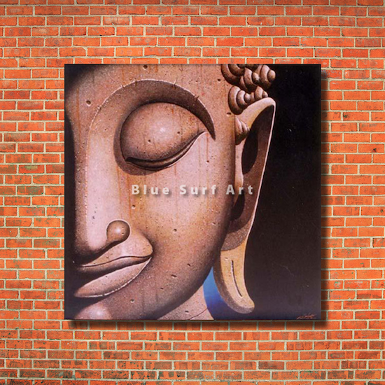 Ayutthaya Buddha Painting - red bricks wall
