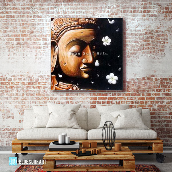 Dvaravati Buddha Oil Painting on Canvas