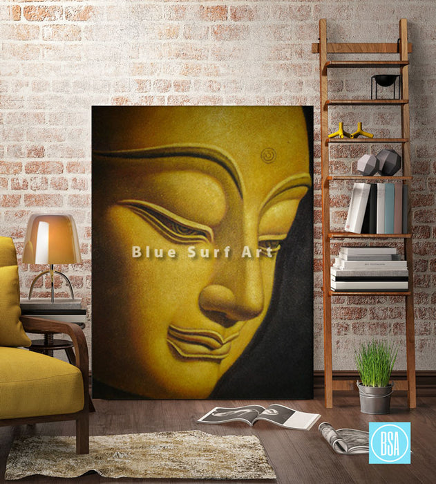 Shakyamuni Buddha Oil Painting on Canvas - living room