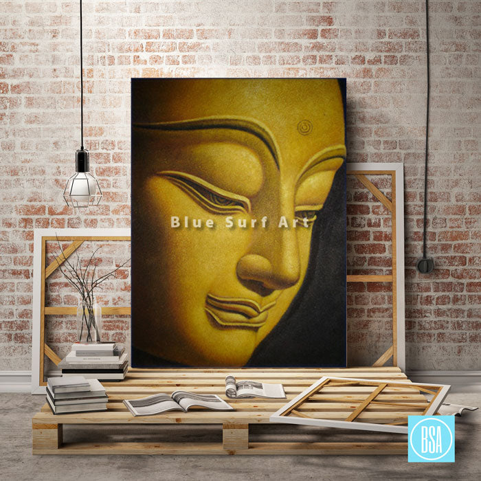 Shakyamuni Buddha Oil Painting on Canvas - loft studio