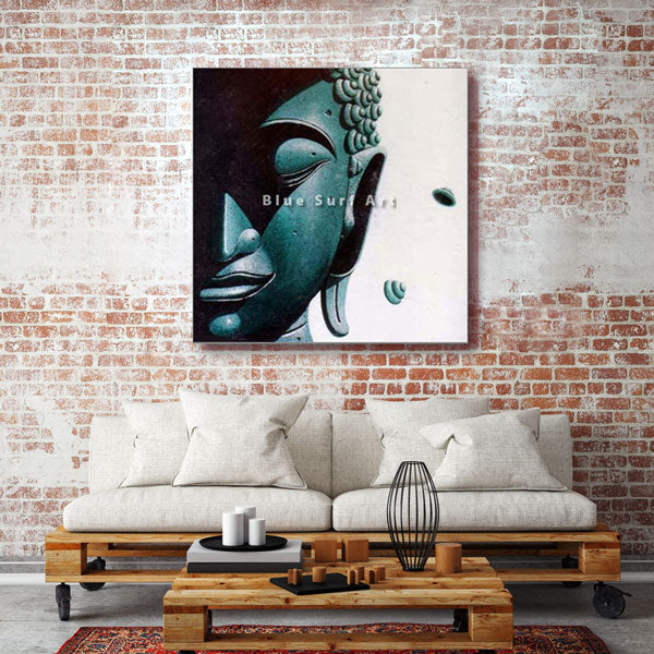 Srivijaya Buddha Oil Painting on Canvas - living room