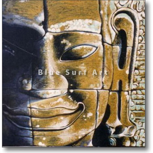 Lopburi Buddha Oil Painting on Canvas