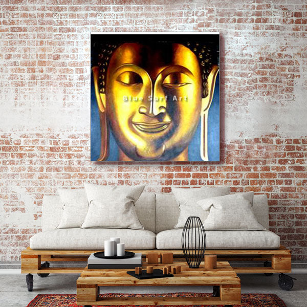 Enlightened Buddha Painting - living room showcase