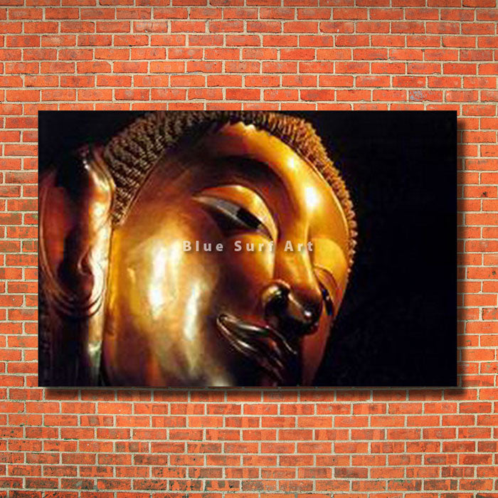 Reclining Buddha Oil Painting on Canvas - red bricks