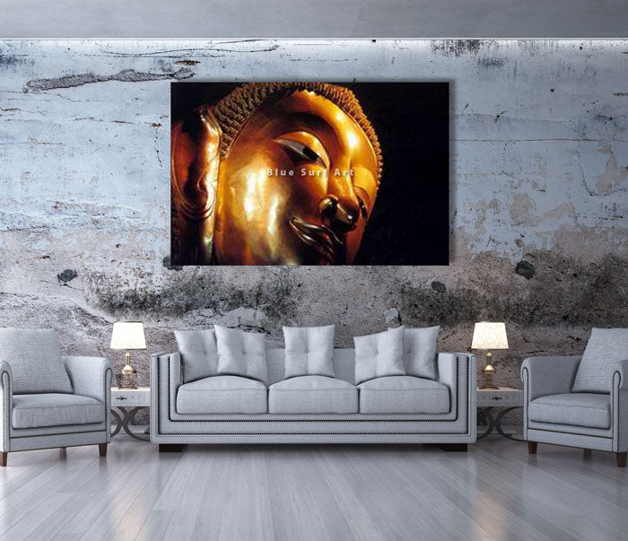 Reclining Buddha Oil Painting on Canvas - living room