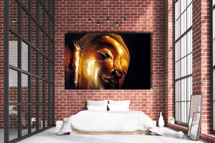 Reclining Buddha Oil Painting on Canvas - bedroom loft