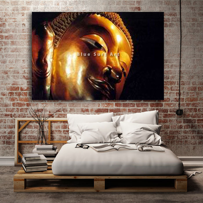Reclining Buddha Oil Painting on Canvas - bedroom
