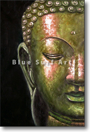 Thonburi Buddha Oil Painting on Canvas