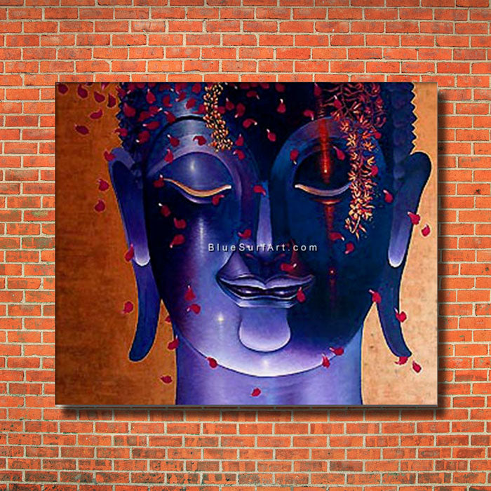 Rattanakosin Buddha Painting - red bricks wall