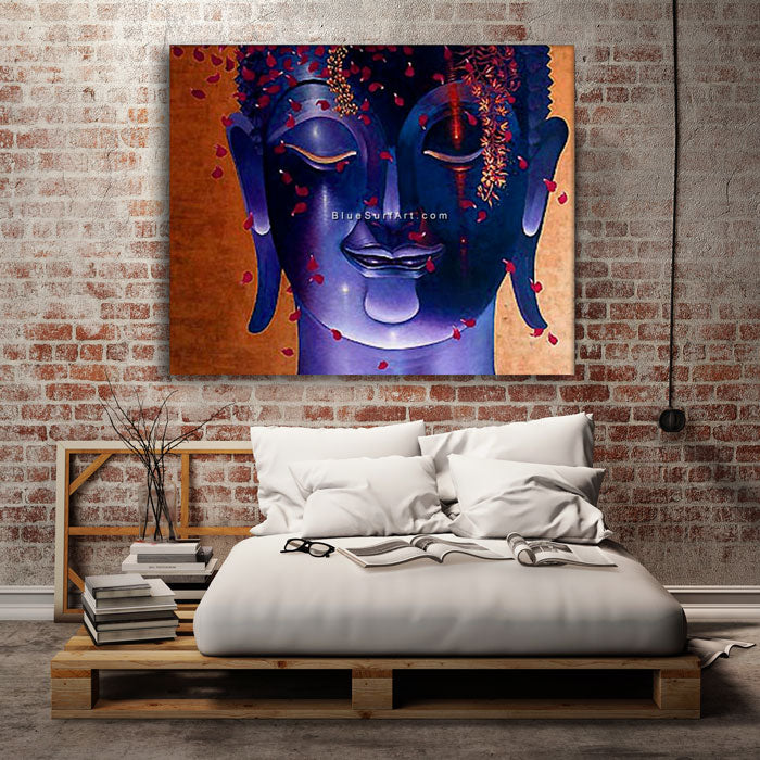 Rattanakosin Buddha Painting - bedroom lofty style