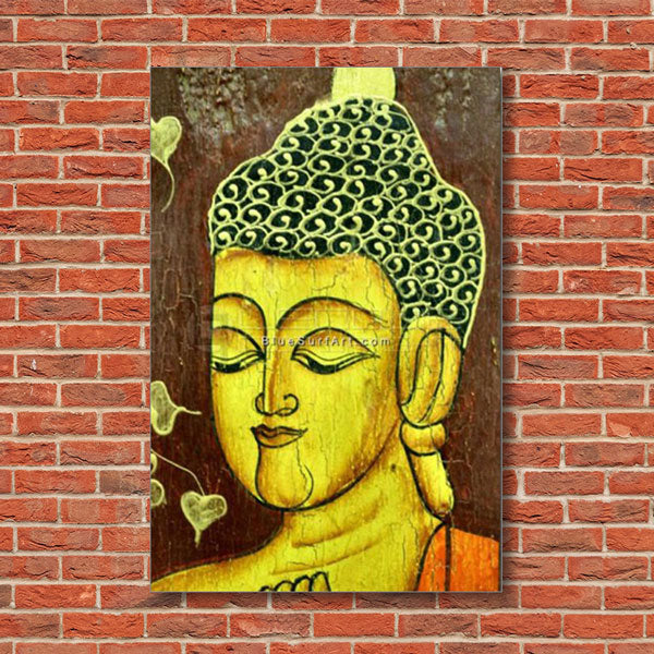Moksha Buddha Painting - red bricks wall