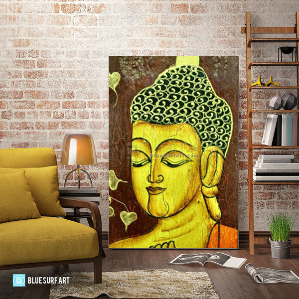 Moksha Buddha Painting - living room