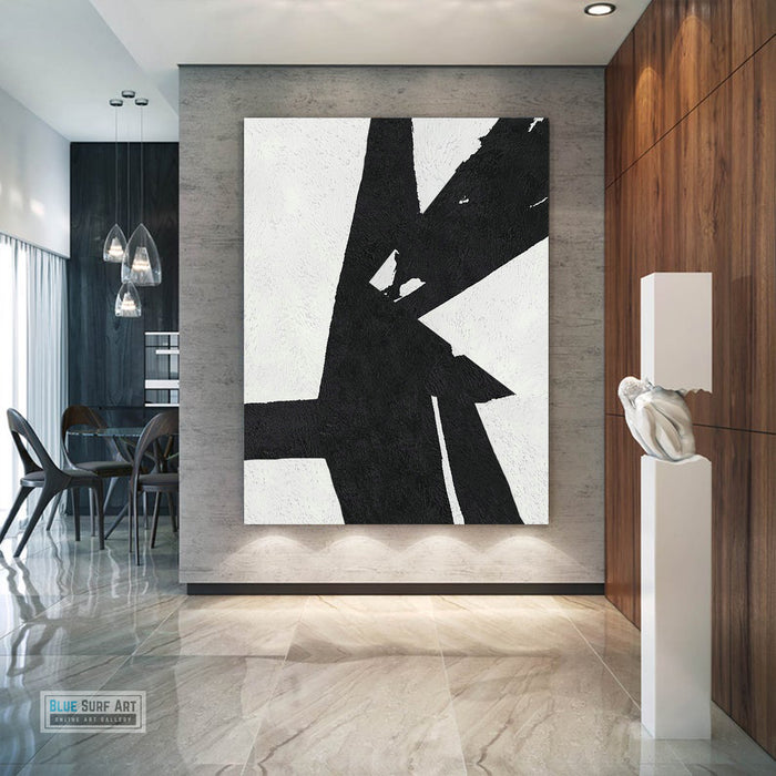Copy of Large Abstract Painting, Black and White Minimal Portrait Canvas Art Painting 4
