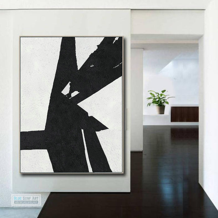 Copy of Large Abstract Painting, Black and White Minimal Portrait Canvas Art Painting 2