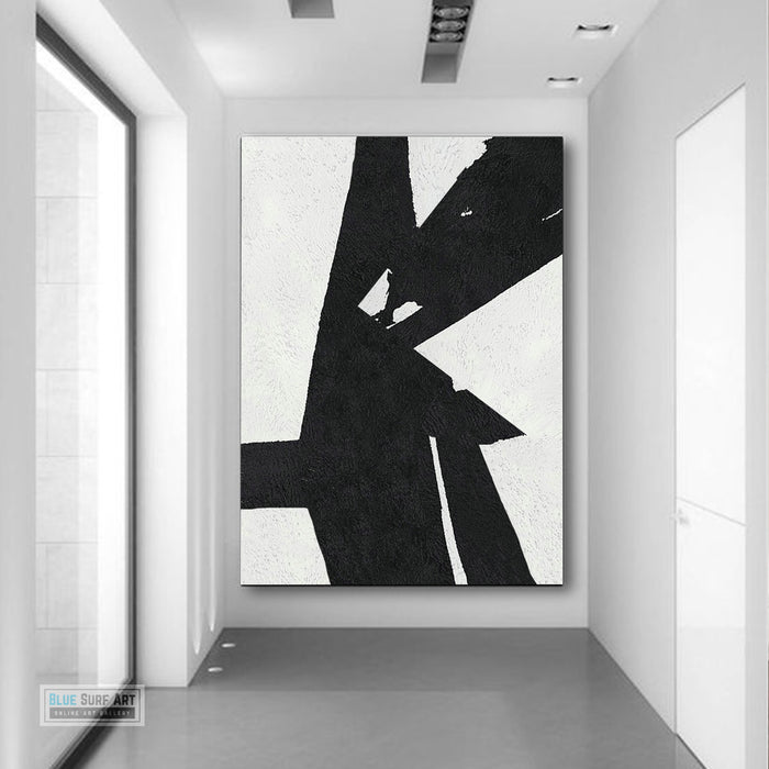 Copy of Large Abstract Painting, Black and White Minimal Portrait Canvas Art Painting 5