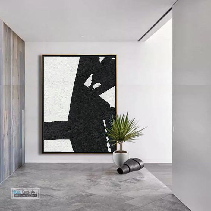 Copy of Large Abstract Painting, Black and White Minimal Portrait Canvas Art Painting 6