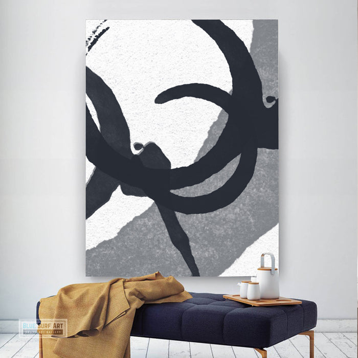Contemporary Abstract Painting, Minimalist Portrait Canvas Art, Modern Abstract Oil Art Painting 2