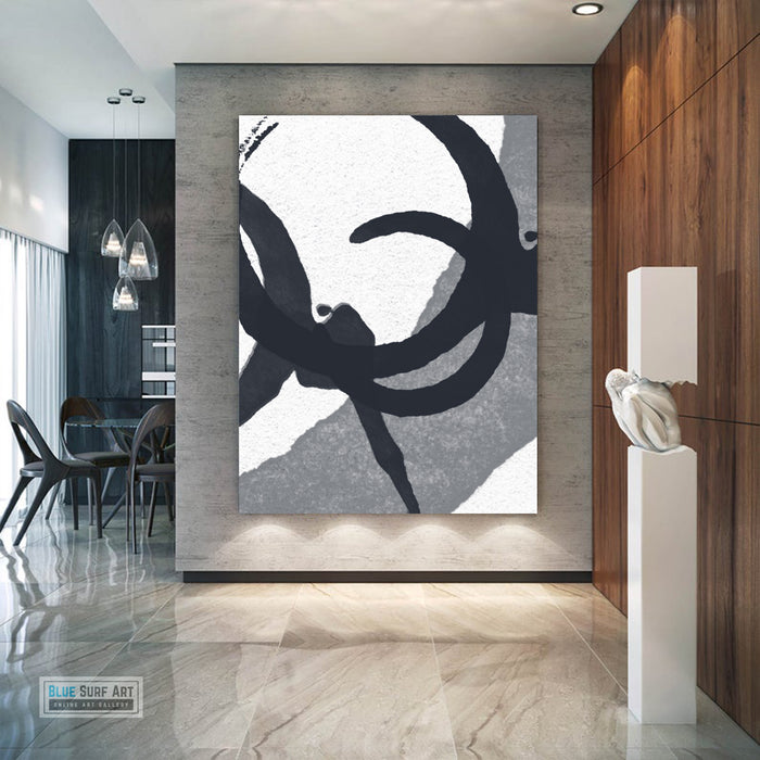 Contemporary Abstract Painting, Minimalist Portrait Canvas Art, Modern Abstract Oil Art Painting 1