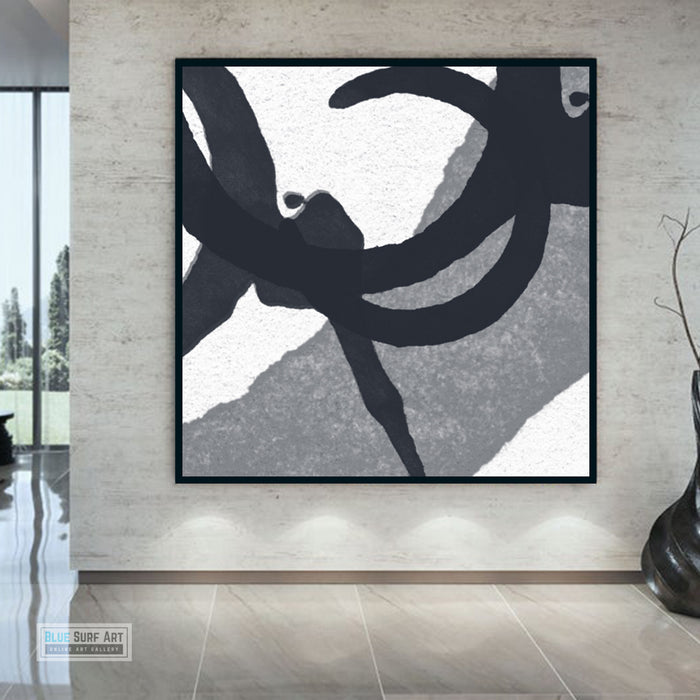Contemporary Abstract Painting, Minimalist Square Canvas Art, Modern Abstract Oil Art Painting 5