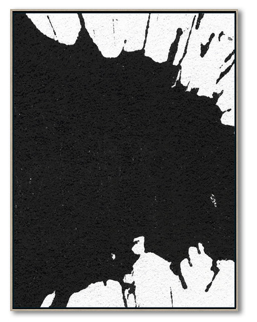 Large Modern Black and White Abstract Canvas Wall Art, Original Oil Painting, Living Room Wall Art Decor no. 25